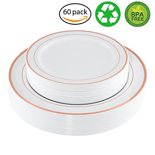 WDF Disposable Plastic Plates Set ,30-10.25