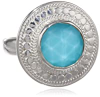 "Anna Beck Designs ""Gili"" Sterling Silver Wire-Rimmed Turquoise Disc Ring from Anna Beck Designs"