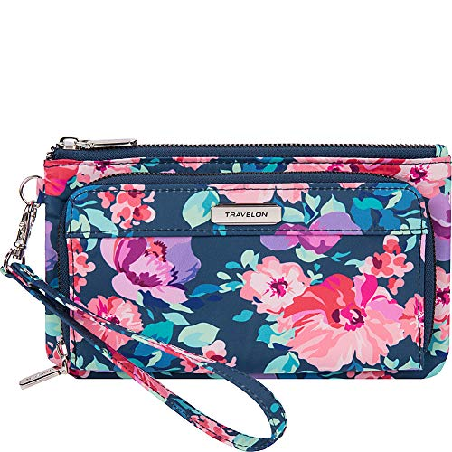 Travelon RFID Blocking Phone Clutch Wallet, blossom Floral