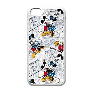 Mickey and Minnie iPhone 5c Cell Phone Case White yyfabd-213601