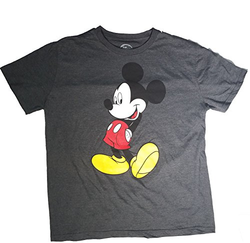 Authentic Disney Mickey and Minnie Mouse Adult T-Shirts (Choose From Various Styles) (L, Gray) (Disney Adult Outfits)