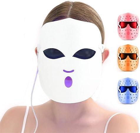WODT Máscara del acné de Terapia de luz, diseño de 108 LED, mascarilla Facial para el Cuidado de la Piel Facial, Tratamiento de la Mancha del acné, Tratamiento contra el envejecimiento: Amazon.es: