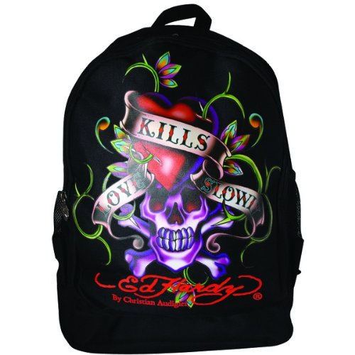 Ed Hardy B1BRULKS Love Kills Slowly Bruce Backpack - Black ()
