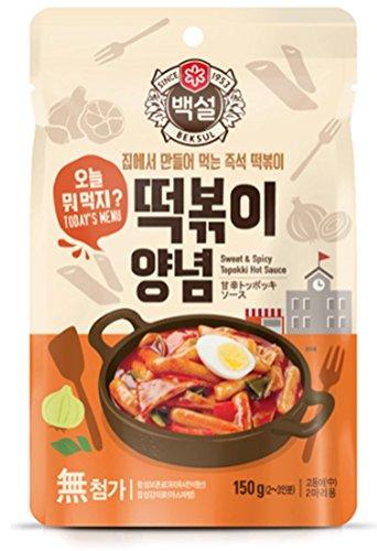 Korea Food Beksul Seasoning Tteokbokki Seasoning Sweet and Spicy 150g * 2ea 떡볶이양념 Made of Fermented Hot Pepper Paste, Gift Party Food Promotion by Beksul
