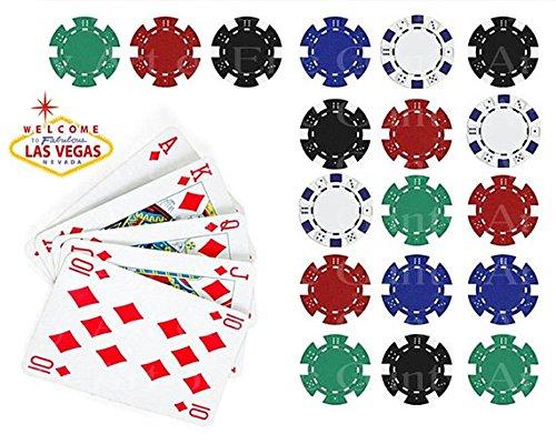 Icing Cupcake Topper Edible Fairy Cake Bun 24 Casino Chips Poker Vegas Iced
