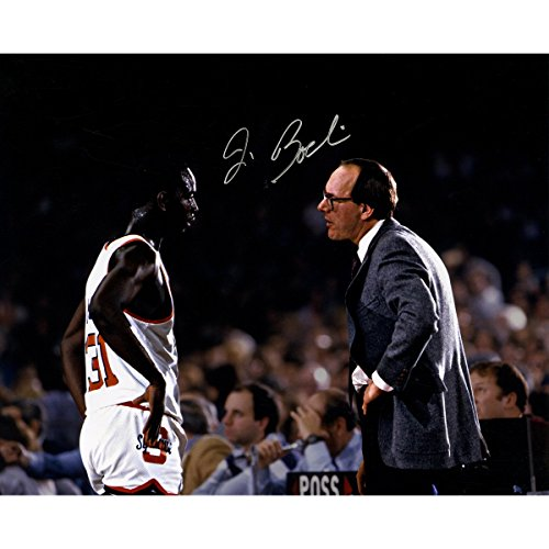 Jim Boeheim Signed with Pearl Washington On Court 16x20 - Pearl Jim