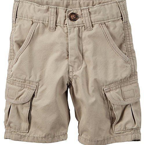 Toddler Boys Cargo Shorts Khaki (Carter's Baby Boys' Khaki Cargo Shorts (24 Months))