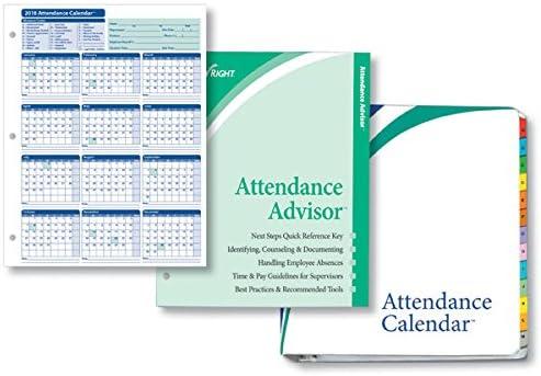 White ComplyRight 2020 Attendance Calendar Kit Pack of 50