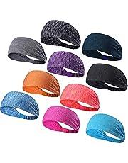 A-code Workout Headbands, Men's Sweatband, Women's Yoga Athletic Hairband for Sports Fitness Running Elastic Non Slip Sport Headband,6 Pack