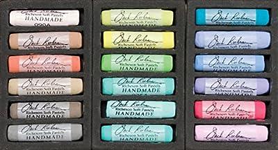 Jack Richeson 427321 Richeson Signature Pastels Set of 18 Landscape Handmade Soft Pastels