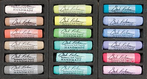 (Jack Richeson Richesonature Set of 18 Landscape Handmade Soft Pastels )