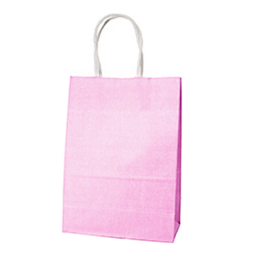 Sedensy 1PC Party Bags Sacchetto Regalo in Carta Kraft con Manici riciclabile Shop Loot Bag, White, Taglia Libera
