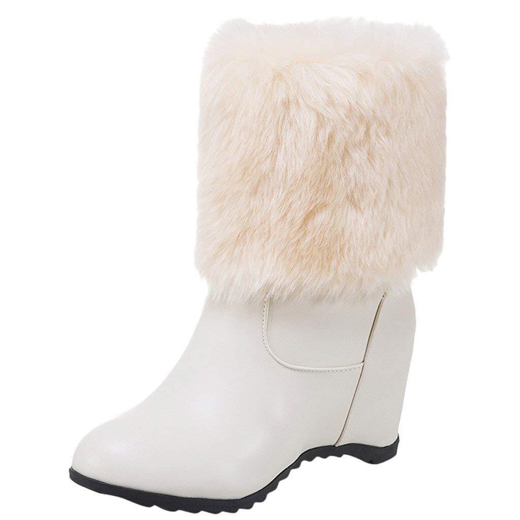 HOOPERT Zapatos de Invierno a Prueba de Agua Forro y Suela de Goma ...