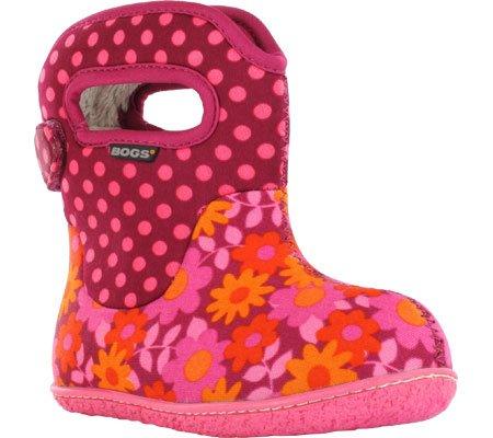 Bogs Daisy Dot Waterproof Boot (Toddler),Cherry,9 M US Toddler