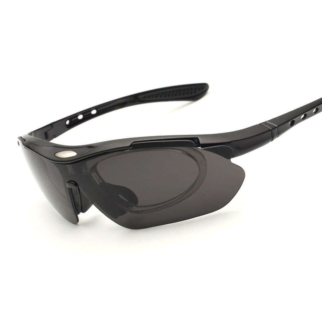 BAOYIT Outdoor Sports Riding Glasses Five-Piece Lens Set Sunglasses Mountain Bike Color Riding Glasses for Men and Women (Color : One Frame Five Piece Lens) by BAOYIT