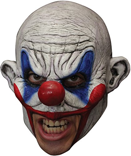 Clooney Clown Chinless Latex Mask Adult (Chinless Mask)