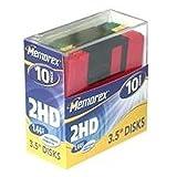 Memorex 8,9 cm (3,5 Zoll) Disketten 10er-Pack farbig in Plastikbox