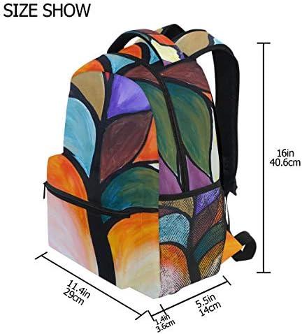 絵画ツリーアートカジュアルバッグ リュック リュック ショルダーバッグ 流行 おしゃれ 人気 ラップトップバッグ こども 通勤 通学