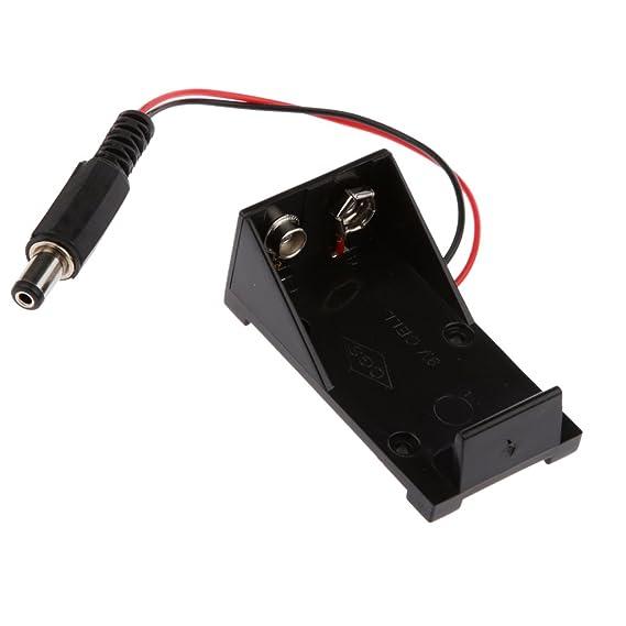 2 unidades batería clip con cable enchufe adaptador 2,1mm 9v bloque Arduino onu