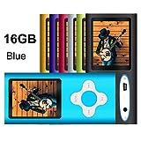 G.G.Martinsen Mini Usb Port Slim 1.78 LCD MP3/MP4 16 GB Portable MP3Player , MP4 Player , Video Player , Music Player (Blue 5)