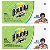 Paper Napkins, White or Printed, 200 Count (2 Packs = 400 Napkins)