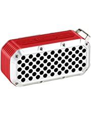ZYZRYP TOPROAD Waterproof Bluetooth Speaker Portable Wireless Stereo Column Outdoor IPX5 Bass Speakers Support FM Radio TF card USB AUX (Color : Red speaker)