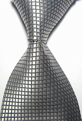 y Checked Jacquard Woven Men's Tie Necktie (Checked Tie)