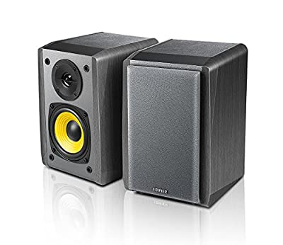 "Edifier R1010BT - 4"" Bluetooth Wireless Creative Reference Multimedia Monitors - Studio Monitor Speaker (Pair) 24 Watts RMS - Black"