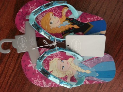 Disney Store Frosset Elsa Anna Flip Flop Sandaler Strand Sko Størrelse 11/12