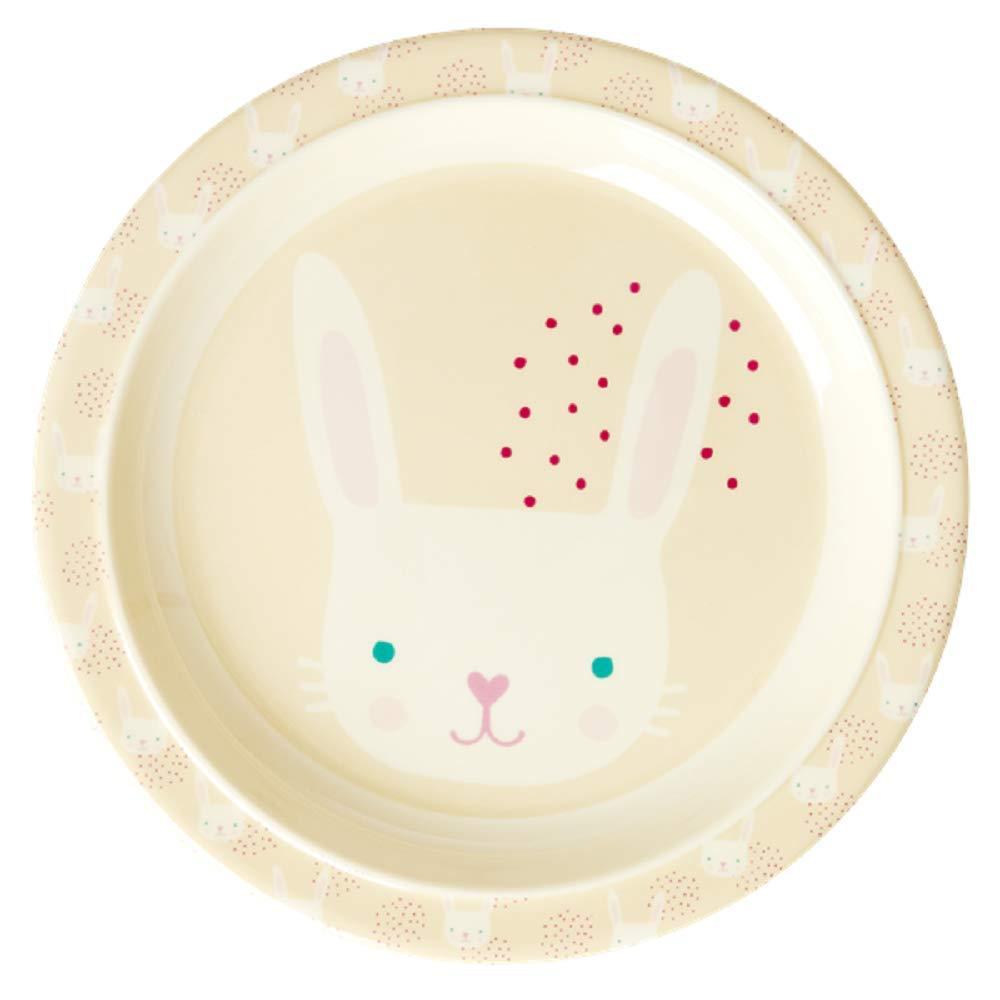 Assiette en M/élamine Motifs lapin roses Rice