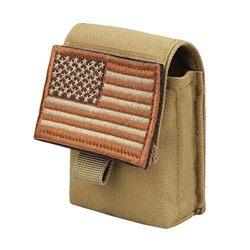 AMYIPO Multi-Purpose Compact Waist Bags Small Utility Pouch Military Molle Pouch Tactical Sundries Storage Bag (Tan)