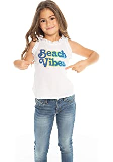 Chaser Kids Girls Pineapple Vision Vintage Flounce Tank Little Kids//Big Kids