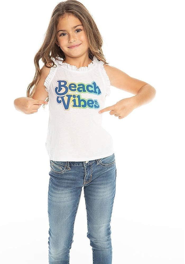 Chaser Kids Baby Girls Beach Vibes Vintage Flounce Tank Toddler//Little Kids