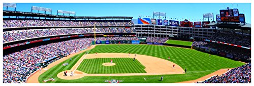Rangers Ballpark in Arlington - Baseball Field - 36x12 Matte Poster Print Wall - Parks Arlington The