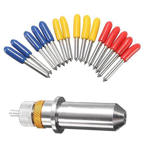 UTP 15pcs 30/45/60 Degree Plotter Cutter Blade + Holder for Roland Vinyl Cutter Power Tools