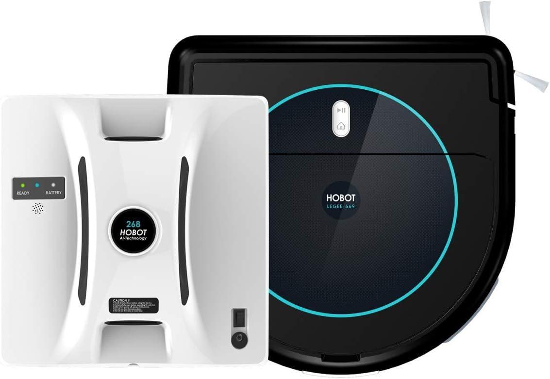 HOBOT-268 Window Cleaning Robot & LEGEE-669 Vacuum-Mop 4 in 1 Smart Robot