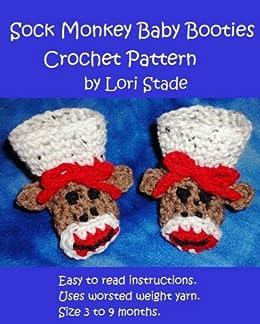 Sock Monkey Baby Booties Crochet Pattern Kindle Edition By Lori