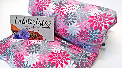 extra-large-11-x-21-in-microwavable-heating-padunscented-pink-and-grey-floral-the-flax-sak-hot-cold-