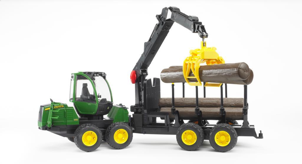 Bruder  Tracteur John Deere 7930 avec fourche et remorque  4001702030551