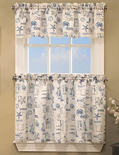 by The Sea Tier Pair 60Wx36L, Blue