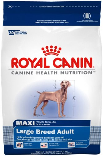 Royal Canin Dry Dog Food, Maxi Large Breed Adult Formula, 6-Pound Bag