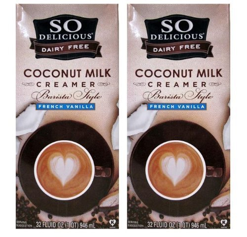 So Delicious Dairy Free Coconut Milk Barista Style French Vanilla Creamer (Pack of 2) 32 oz Size by SO DELICIOUS