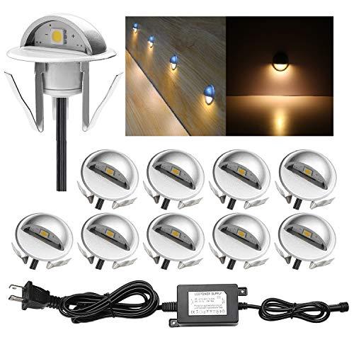 LED Stair Lights Kit Low Voltage Waterproof IP65 Outdoor 1-2/5