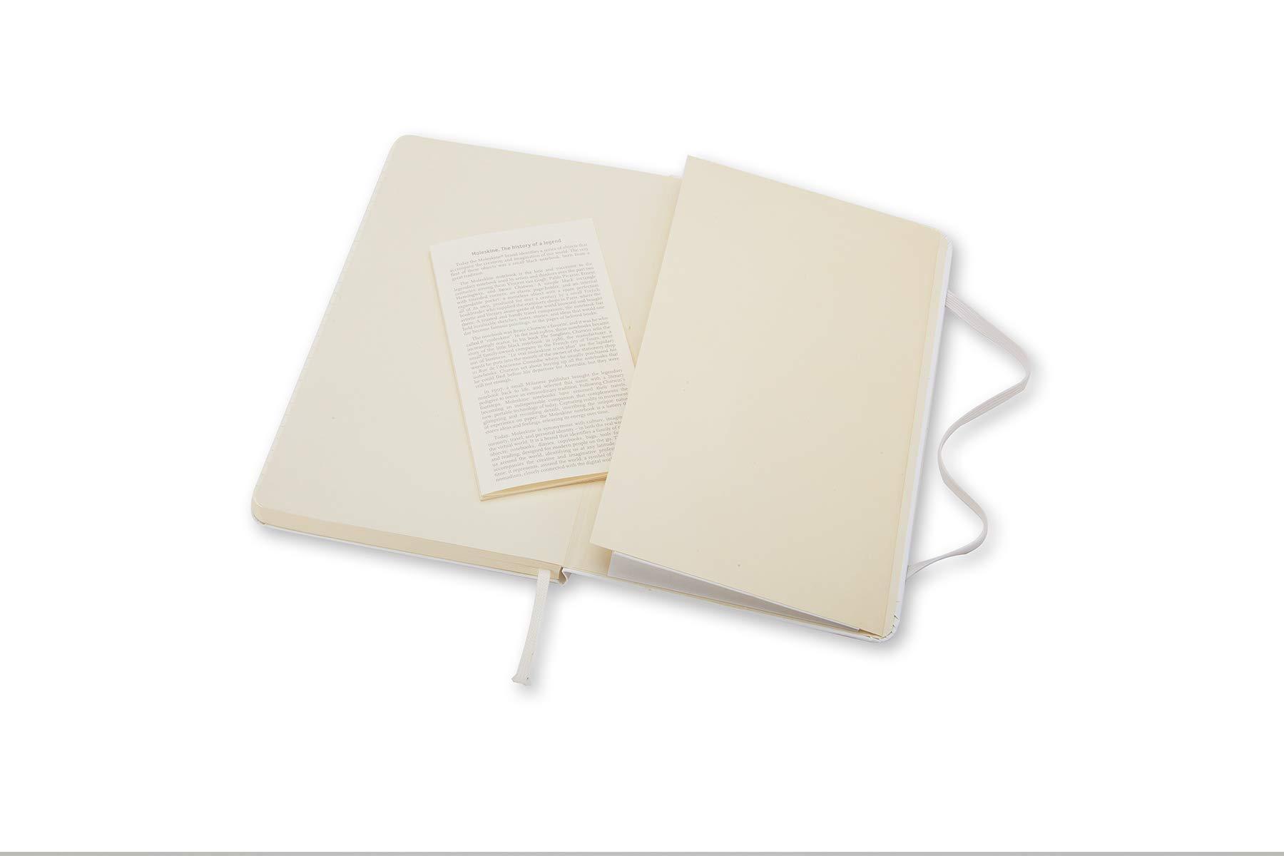 Moleskine Classic Notebook, Hard Cover, Large (5'' x 8.25'') Ruled/Lined, White by Moleskine (Image #5)