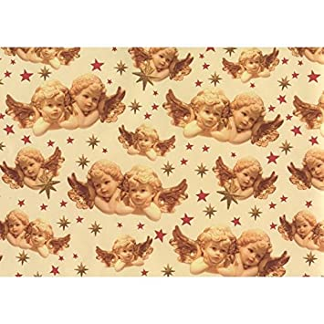 Susy Card 11103678 Romantic Angels Christmas Gift Wrap 2 M Amazon