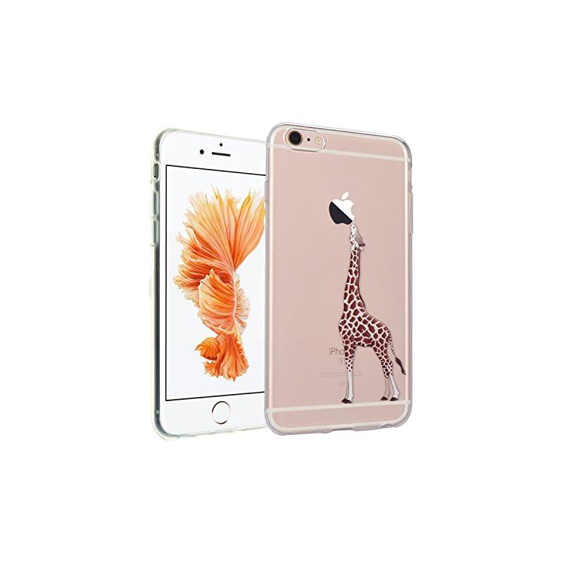 iPhone SE Case, IMAGITOUCH Giraffe Clear