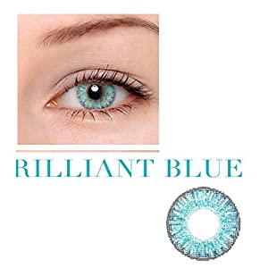 Caikedo Women Multicolor Cute Charm and Attractive Fashion Contact Lenses Cosmetic Makeup Eye Shadow - Brilliant Blue