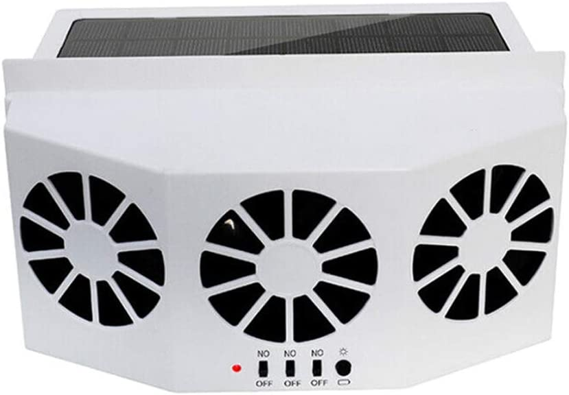 Gelentea Auto Solar K/ühlung Air Fan tragbar Auto leise Klimaanlage Solar K/ühler Auto LKW Fahrzeug K/ühler Energiesparend 2 FAN Schwarz