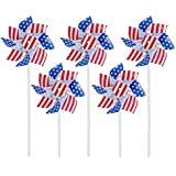 """6"""" Pinwheels Red White and Blue Patriotic 12 Pack"""