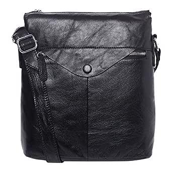 Venus Accessorie V53413 Fashion Backpack for Men - Leather, Black